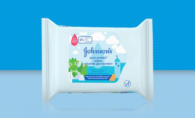 johnsons kids pure protect wipes