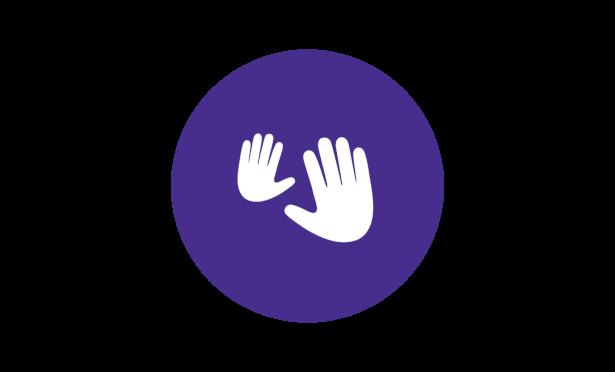 Johnson's® baby bedtime routine massage hands icon
